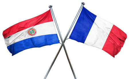 bandera de paraguay: bandera de Paraguay combinada con la bandera de Francia