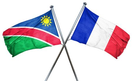 amity: Namibia flag combined with france flag