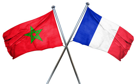 french culture: Morocco flag combined with france flag