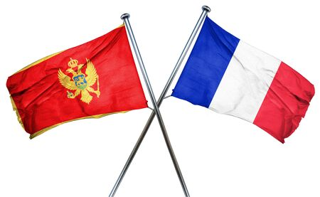 french culture: Montenegro flag combined with france flag