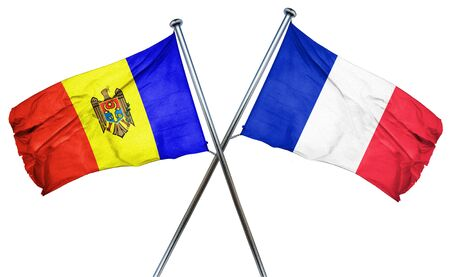 french culture: Moldova flag combined with france flag