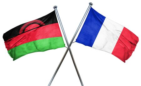 amity: Malawi flag combined with france flag