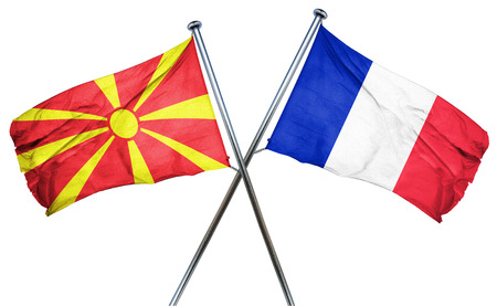 french culture: Macedonia flag combined with france flag