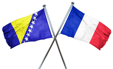 french culture: Bosnia and Herzegovina flag combined with france flag