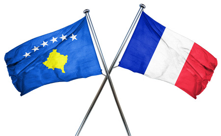 kosovo: Kosovo flag combined with france flag
