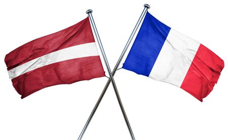 french culture: Latvia flag combined with france flag