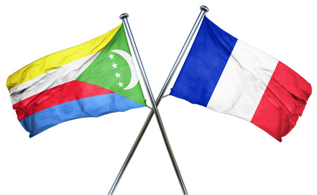french culture: Comoros flag combined with france flag