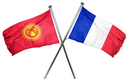 french culture: Kyrgyzstan flag combined with france flag