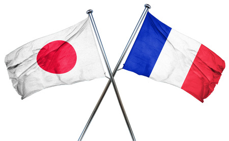 isolation backdrop: Japan flag combined with france flag