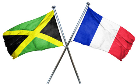 french culture: Jamaica flag combined with france flag
