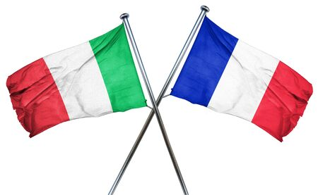 treaty: Italy flag combined with france flag