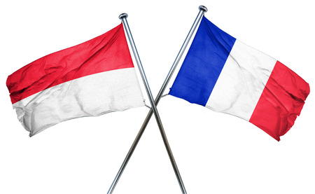 indonesia culture: Indonesia flag combined with france flag Stock Photo