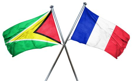 guyana: Guyana flag combined with france flag