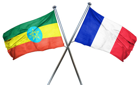 french culture: Ethiopia flag combined with france flag