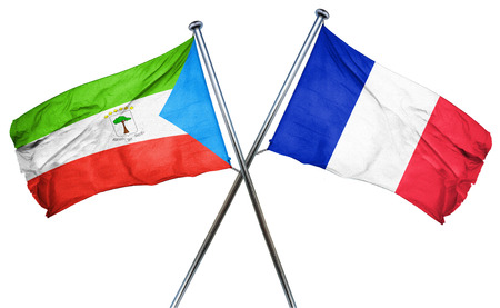 french culture: Equatorial guinea flag combined with france flag
