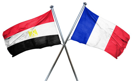 isolation backdrop: Egypt flag combined with france flag