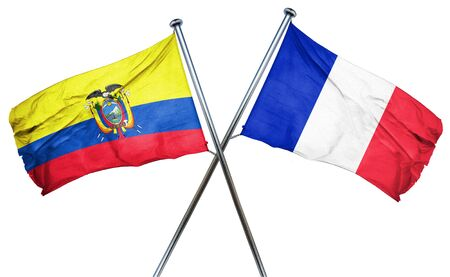 combined: Ecuador flag combined with france flag