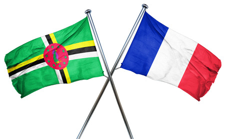 french culture: Dominica flag combined with france flag Stock Photo