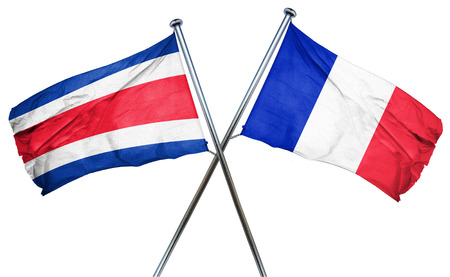 bandera de costa rica: Costa Rica flag combined with france flag