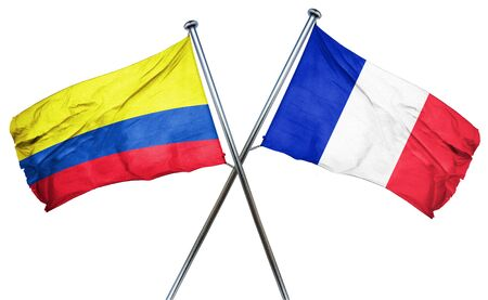 colombia flag: Colombia flag combined with france flag Stock Photo
