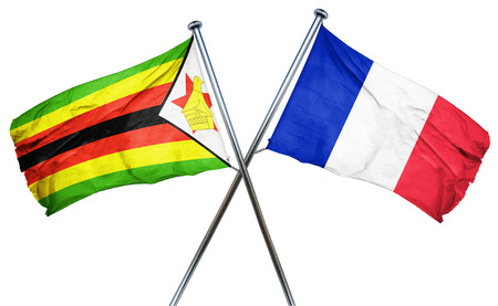combined: Zimbabwe flag combined with france flag