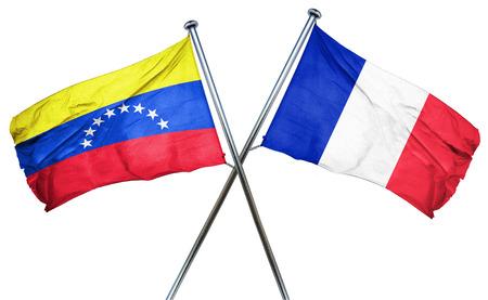 amity: Venezuela flag combined with france flag Stock Photo