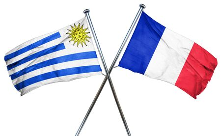 french culture: Uruguay flag combined with france flag