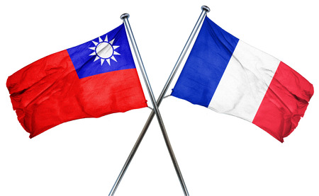french culture: Republic of china flag combined with france flag