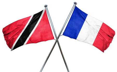 trinidad and tobago: Trinidad and tobago flag combined with france flag