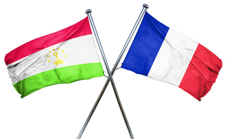 french culture: Tajikistan flag combined with france flag