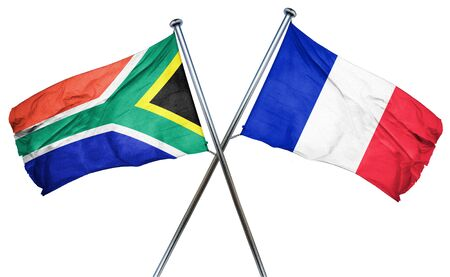 treaty: South africa flag combined with france flag