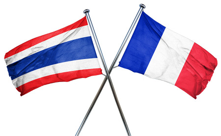 treaty: Thailand flag combined with france flag Stock Photo