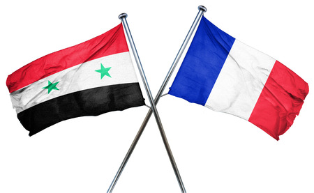 Syria: Syria flag combined with france flag