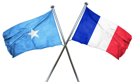 somalia: Somalia flag combined with france flag