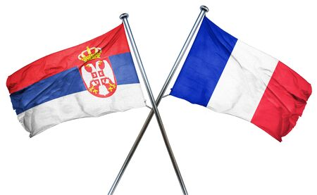 serbia flag: Serbia flag combined with france flag