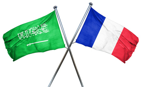 french culture: Saudi Arabia flag combined with france flag