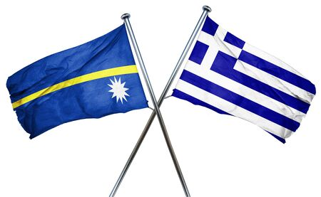 nauru: Nauru flag combined with greek flag