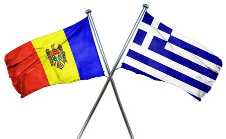 combined: Moldova flag combined with greek flag