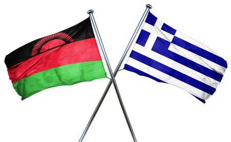 malawi flag: Malawi flag combined with greek flag