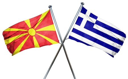 macedonia: Macedonia flag combined with greek flag