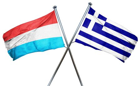 luxembourg: Luxembourg flag combined with greek flag