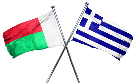 greek flag: Madagascar flag combined with greek flag