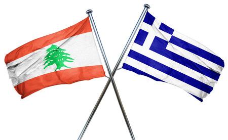 greek flag: Lebanon flag combined with greek flag