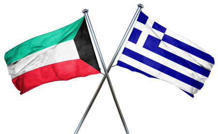 combined: Kuwait flag combined with greek flag