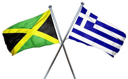 greek flag: Jamaica flag combined with greek flag
