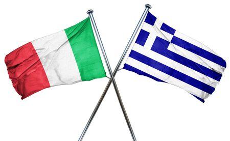 italian politics: Italy flag combined with greek flag