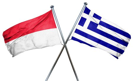 indonesia culture: Indonesia flag combined with greek flag