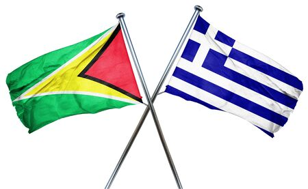 greek flag: Guyana flag combined with greek flag