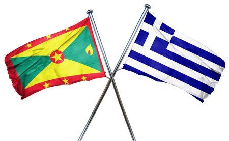 grenada: Grenada flag combined with greek flag Stock Photo