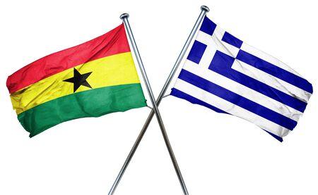 ghanese: Ghana flag combined with greek flag Stock Photo